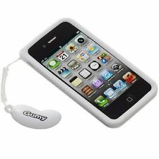 NEW White JVC Gumy Case Cover for Apple iphone 4 4S Soft Grip Silicone Rubber