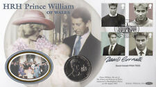 Benham  £5 coin 21st Birthday Prince William of Wales Signed D Cornell Sculptor