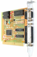 SIS 86C12A 8-BIT ISA 9-PIN SERIAL / 25-PIN PARALLEL PORT INPUT CARD