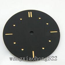 38.9mm sandwich sterile black dial no logo ETA 6497 6498 movement parnis 057