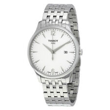 Tissot Tradition Silver Dial Stainless Steel Mens Watch T0636101103700