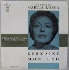 Federico Garcia Lorca 33 tours 25 cm Poema del cante jondo Germaine Montero