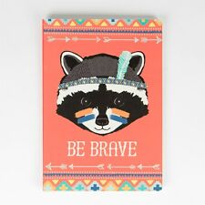 Sass & Belle A5 Plain Paper Notebook Note Book Tribal Adventure BE BRAVE Raccoon