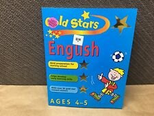 Gold Stars English Ages 4-5 Year old Learning Workbook Starting Home School