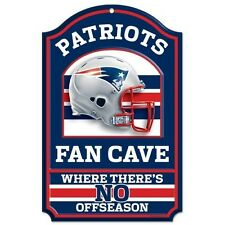NEW ENGLAND PATRIOTS ~ Official NFL 11x17 No Offseason Fan Cave Wood Sign ~ New!
