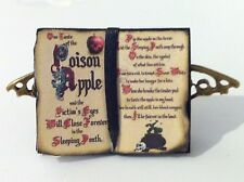DOLLS HOUSE WITCH POTION BOOK WITH  BRONZE BAT STAND