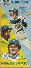 1980 Milwaukee Brewers Media Guide Thomas Cooper Lezcano on Cover