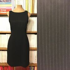 HOBBS pinstripe dress UK10 US6 black white fitted sheath pencil office career