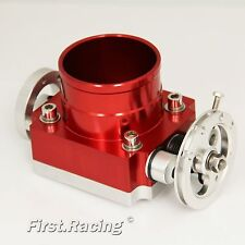Universal Upgrade Aluminum RED 80MM Throttle Body Intake Manifold VQ35TPS