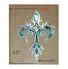 PH19# Tribal Cross Inlay in Paua Abalone & White Mother of Pearl 1.5mm thickness