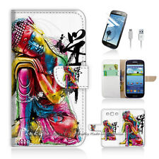Samsung Galaxy S3 Print Flip Wallet Case Cover! Abstract Buddha Art P0122