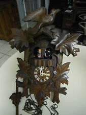 Dancing Musical German Cuckoo Clock Working