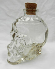Clear Glass Skull Decanter / Bottle - 170ml size  - New