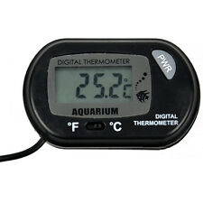 Black Digital LCD Fish Tank Aquarium Marine Water Thermometer Temperature New
