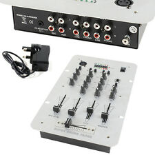 2-Channel DJ Mixer -3 Band Equalizer & Mic Input-Pre-Amplifier RCA Phono Karaoke