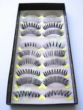 10 Pairs Best Quality Handmade False Fake Eyelashes - Mix Style Pack - Love