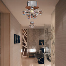 Modern K9 Crystal Ball Ceiling Light Fixture Flush Mount Chandelier Hallway G4