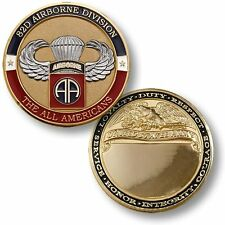 82nd Airborne Basic Jump Wings Challenge Coin US Army Ft Bragg Fort School 82d