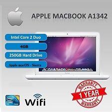 """Apple MacBook a1342, 13.3"""" MacOS 10.12, SIERRA - 2.26 GHz-RAM 4gb HDD - 250gb"""