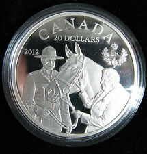 2012 $20 Fine Silver Coin - Queen in Canada with RCMP Horse