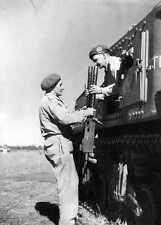 WWII B&W Photo Australian M3 Tank Browning 1919 Machine Guns  ANZAC  WW2 / 1278