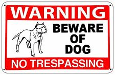 BEWARE OF DOG - Attack Dog on Duty Warning Sign- pet dogs signs security