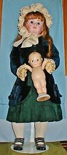 """EXCEPIONALLY Rare  Exhibition Size 36"""" French Mothereau Bebe w/ Antique Dress NR"""