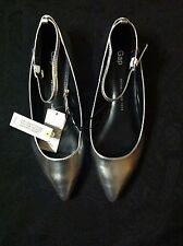GAP WOMENS NEW SILVER METALLIC SHEEP LEATHER FLAT SHOES SIZE:7.5