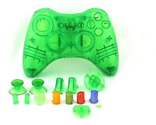 Green Custom Crystal Clear Custodia CONTROLLER WIRELESS per XBOX 360 Pad