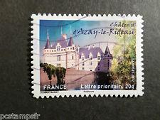FRANCE 2012, timbre AUTOADHESIF, CHATEAU D AZAY LE RIDEAU, oblitéré, CASTLE