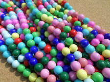 25 x Baked Glass Beads - Round - 10mm - Mixed Colour