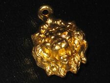 CHANEL   authentic GOLD LION HEAD CHARM PENDANT   AROUND 1  inch