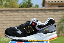 NEW BALANCE 999 SZ 9 ELITE EDITION PINBALL BLACK LIGHT GREY YELLOW ML999PB