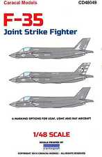 Caracal Decals 1/48 LOCKHEED MARTIN F-35 LIGHTING II JOINT STRIKE FIGHTER