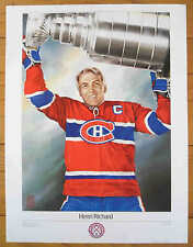 """1988 Hockey Legends Canadiens' Henri Richard Print """"The Cup"""" by Heather Cooper"""
