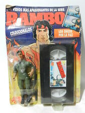 VINTAGE RAMBO ACTION FIGURE COLONEL TRAUTMAN VHS 1988 SEALED IN CARD BRAND JOCSA
