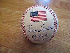 Irish Tenor TYNAN RONAN signed FLAG Baseball GOD BLESS AMERICA COA