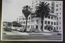 "12 By 18"" Black & White Picture about 1953 Old Hotel and parking lot"