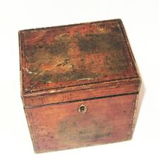 ANCIENNE BOITE A THE AVEC CLE ANTIQUE REGENCY TEA CADDY