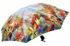Bird of Paradise Flower Folding Compact Auto Open Umbrella 42""