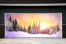 Christmas Tree Garage Door Covers 3d Banners Outside Art Decoration Outdoor GD49