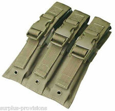 Condor MA37 Triple MP5/UZI Mag Pouch OD Green - Tactical Molle Magazine pouch