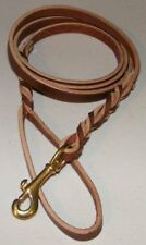 "Punk Hollow - Dbl Braided Dog Leash 6' X 1/2"" ~ Brown/Brass"