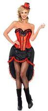 COSTUME BURLESQUE ROSSO TG. L Carnevale Travestimento Vestito Charlestone 42336L