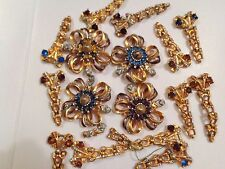 ANTIQUE VINTAGE LOT OF FASHION COSTUME RHINESTONE JEWELRY FOR CRAFT