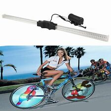 Programmable RGB 64 LED DIY Bike Cycling Bicycle Wheel Tire Spoke Light Rainbow