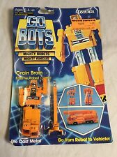 Vintage Tonka Go-Bots Crain Brain 24 Action Figure Mint On Card MoC Transformers
