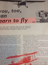 Ephemera 1963 Article Janet Ferguson You Too Can Learn To Fly M48