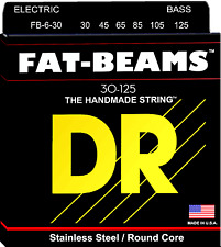 DR Strings FB6-30 FAT BEAMS Compression-Wound Stainless Steel Bass Guitar String