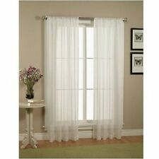 "Solid White Sheer Window Curtains/drape/panels/treatment size 60""x84"""